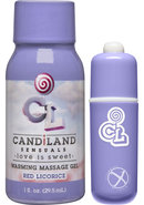 Candiland Sugar Buzz Massage Set Waterproof Bullet Red...